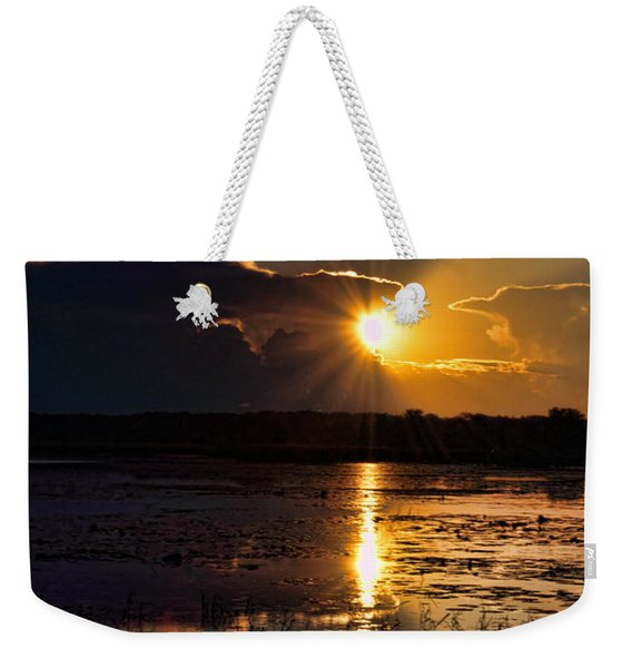 Late Afternoon Reflection Weekender Tote Bag