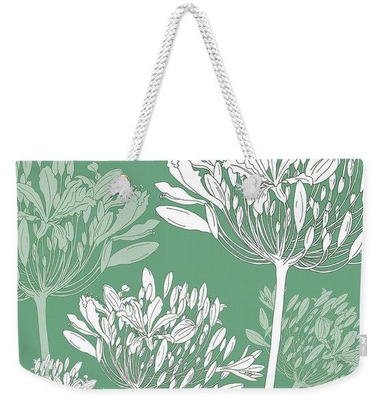 Agapanthus Breeze Weekender Tote Bag