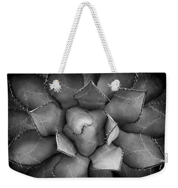 Agave Black And White Abstract Weekender Tote Bag