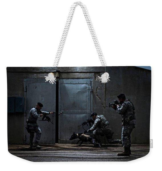 Air Force Security Forces Members Weekender Tote Bag