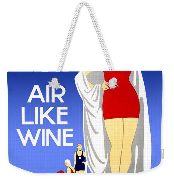 Air Like Wine Weekender Tote Bag