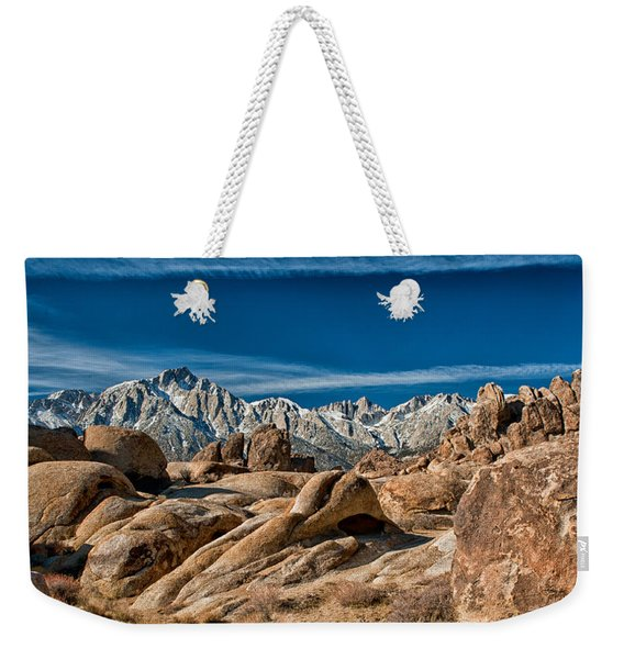 Alabama Hills And Mt. Whitney Weekender Tote Bag