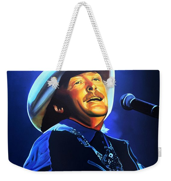 Alan Jackson Painting Weekender Tote Bag