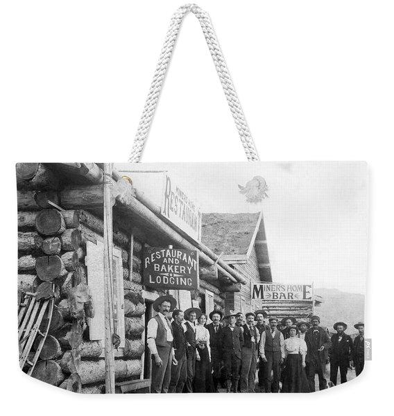 Alaskan Gold Miners Town Weekender Tote Bag