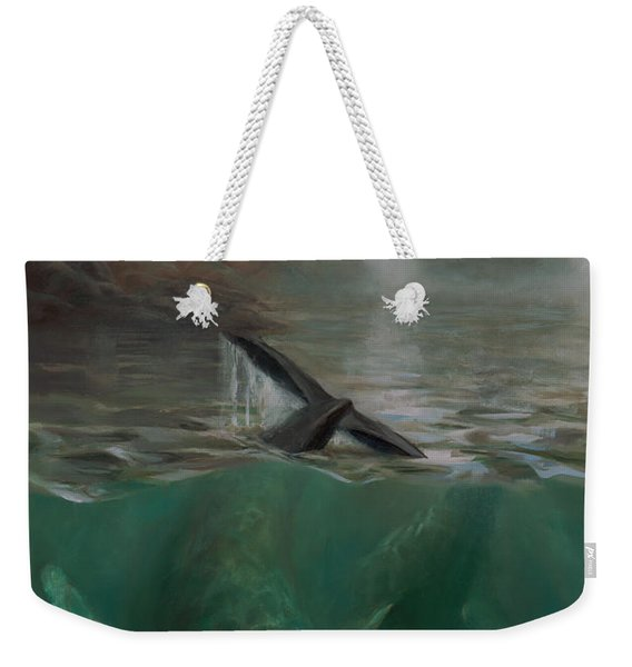 Humpback Whales - Underwater Marine - Coastal Alaska Scenery Weekender Tote Bag