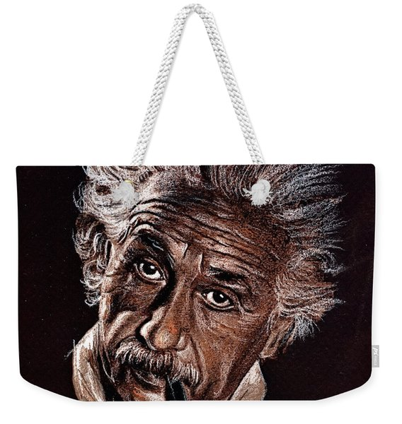 Albert Einstein Portrait Weekender Tote Bag