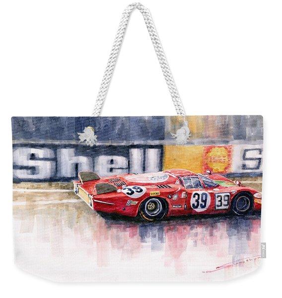 Alfa Romeo T33 B2 Le Mans 24 1968 Galli Giunti Weekender Tote Bag