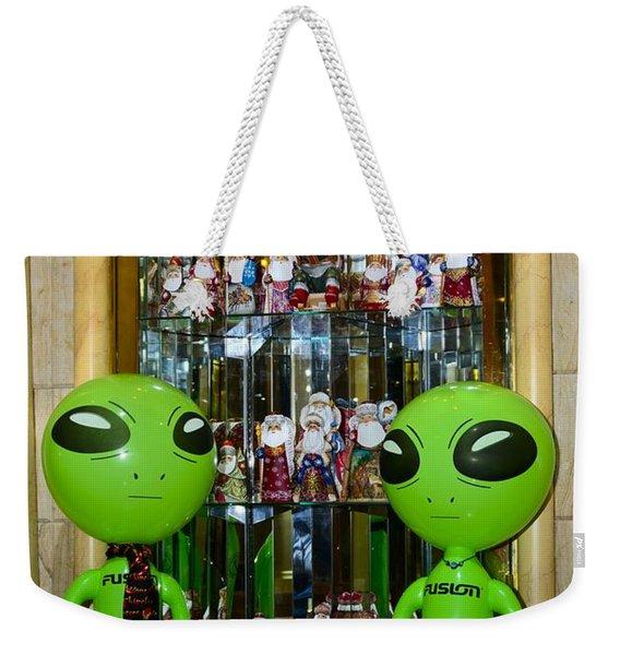 Alien Christmas Tour Weekender Tote Bag