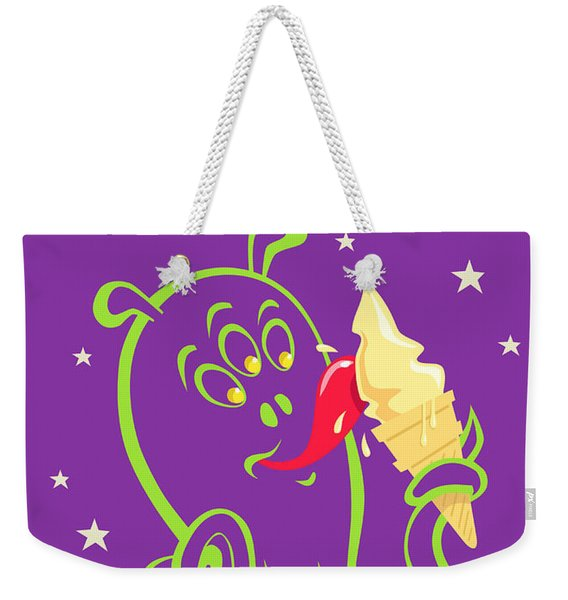 Alien Ice Cream -vector Version Weekender Tote Bag