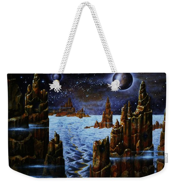 Ice And Snow  Planet  Weekender Tote Bag