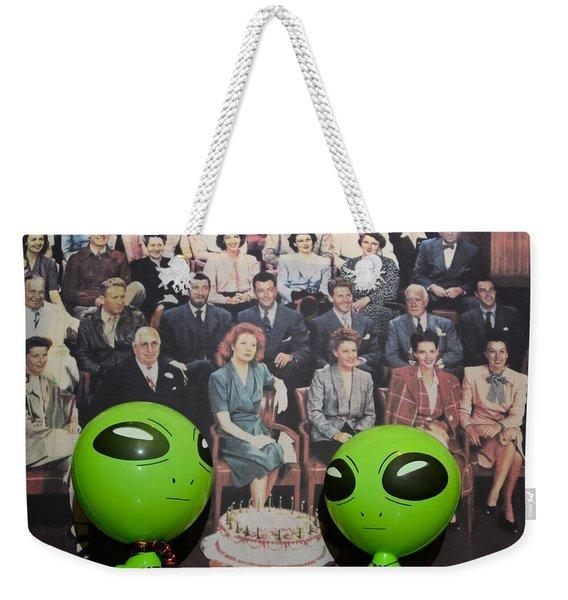 Alien Nostalgia Weekender Tote Bag
