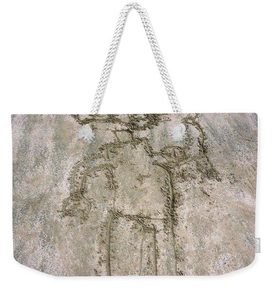 Alien On The Beach Weekender Tote Bag