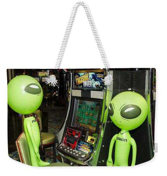 Alien Slot Play  Weekender Tote Bag