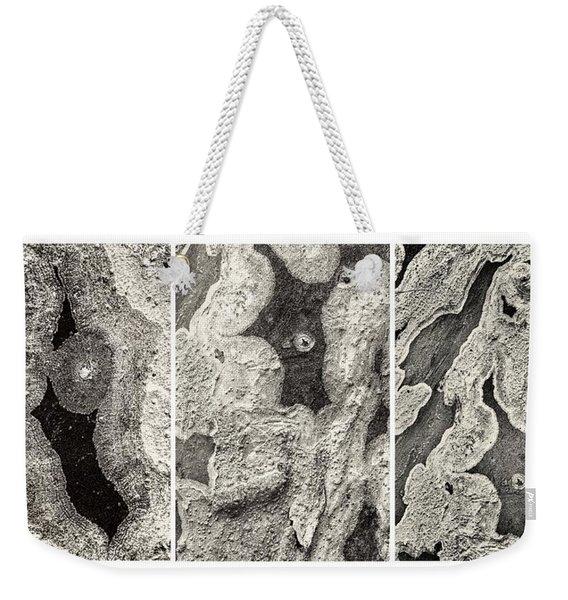 Alien Triptych Landscape Bw Weekender Tote Bag