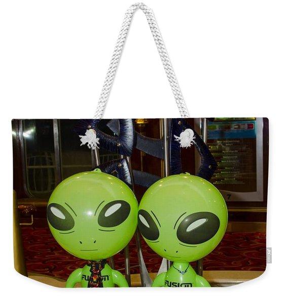 Aliens And Whatamacallit Weekender Tote Bag
