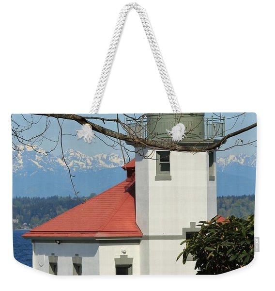 Alki Lighthouse Weekender Tote Bag