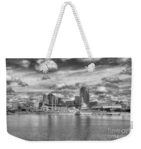 All American City 2 Bw Weekender Tote Bag