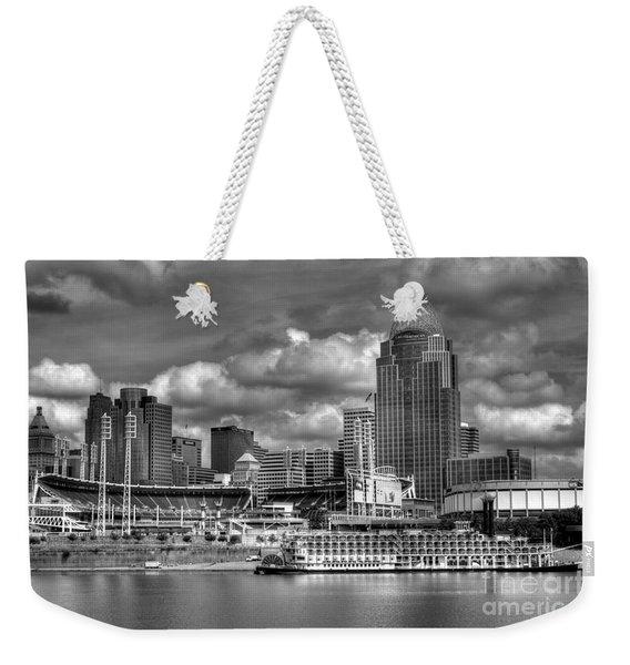 All American City Bw Weekender Tote Bag