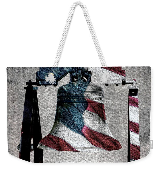 All American Liberty Bell Art_denim Weekender Tote Bag