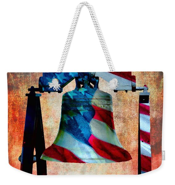 Liberty Bell Art Smooth All American Series Weekender Tote Bag