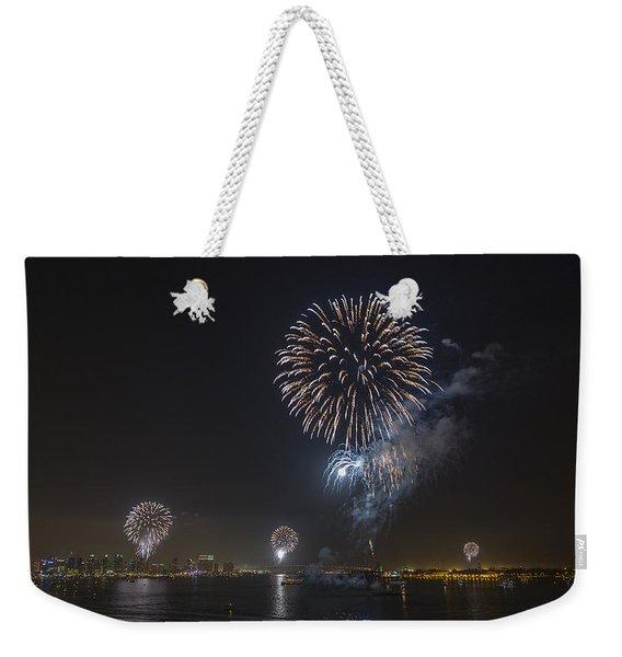 All At Once San Diego Fireworks Weekender Tote Bag