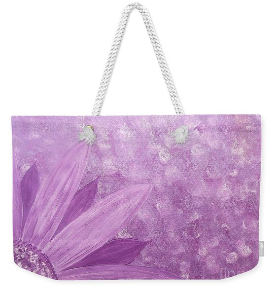 All Purple Flower Weekender Tote Bag