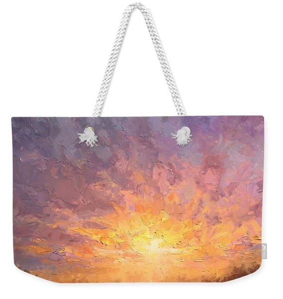 Impressionistic Sunrise Landscape Painting Weekender Tote Bag