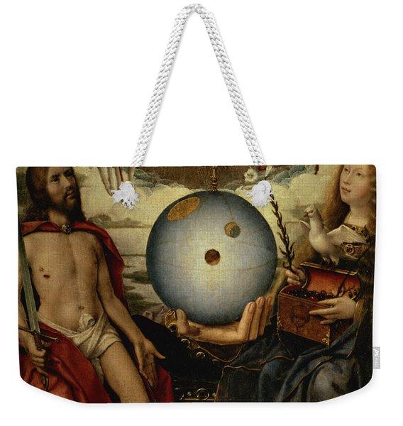 Allegory Of Christianity Oil On Panel Weekender Tote Bag