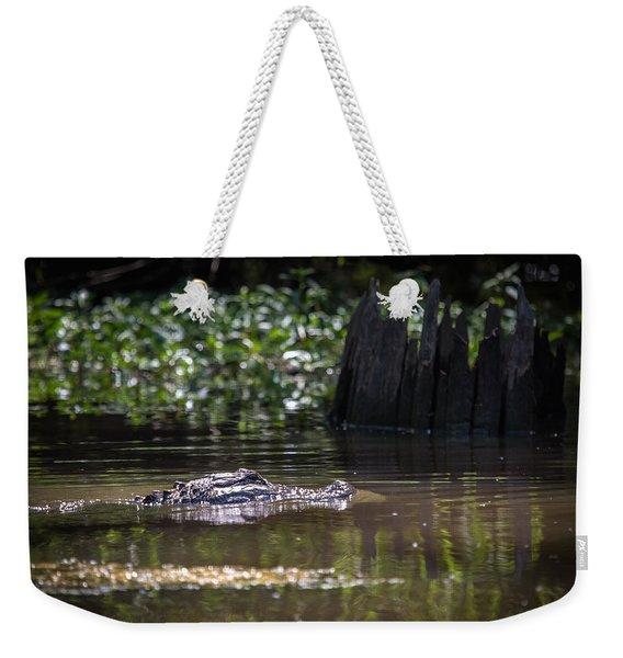 Alligator Swimming In Bayou 2 Weekender Tote Bag