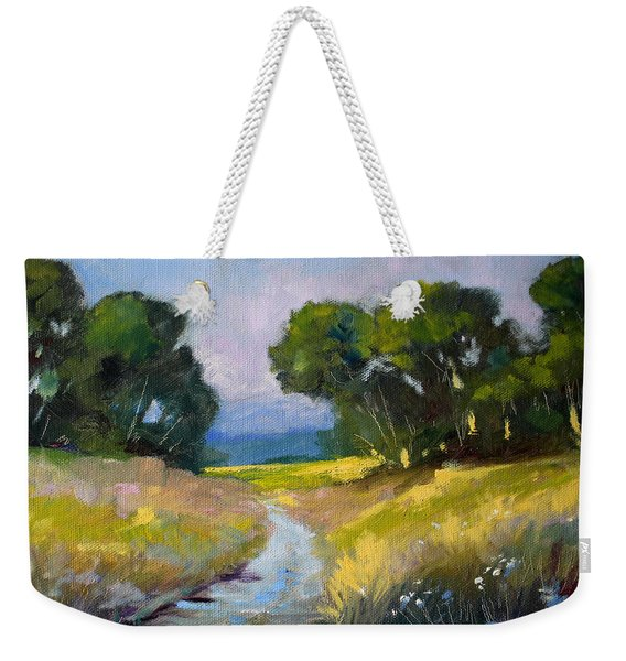 Along A Country Road Weekender Tote Bag