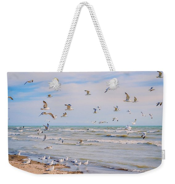 Weekender Tote Bag featuring the photograph Along The Beach by Garvin Hunter