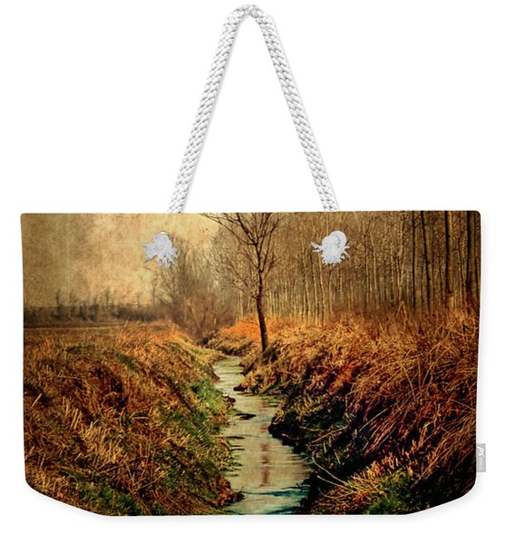Along The Canal Weekender Tote Bag