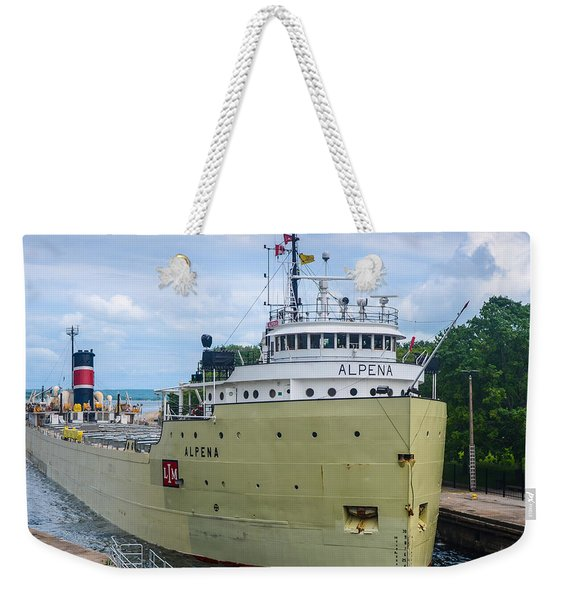 Alpena Upbound At The Soo Weekender Tote Bag