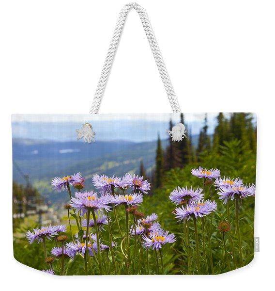 Alpine Asters Weekender Tote Bag