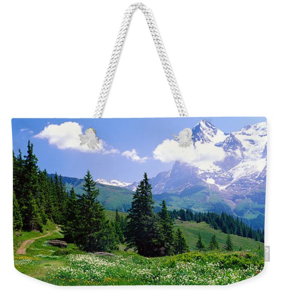 Alpine Scene Near Murren Switzerland Weekender Tote Bag