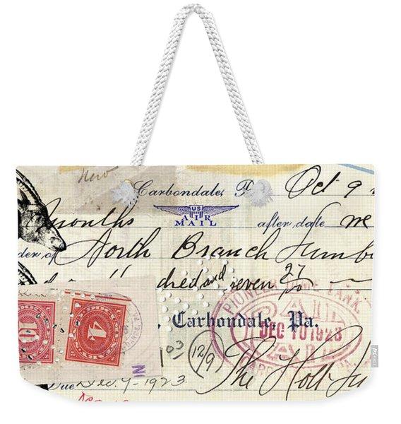 Altered Check 1923 Weekender Tote Bag
