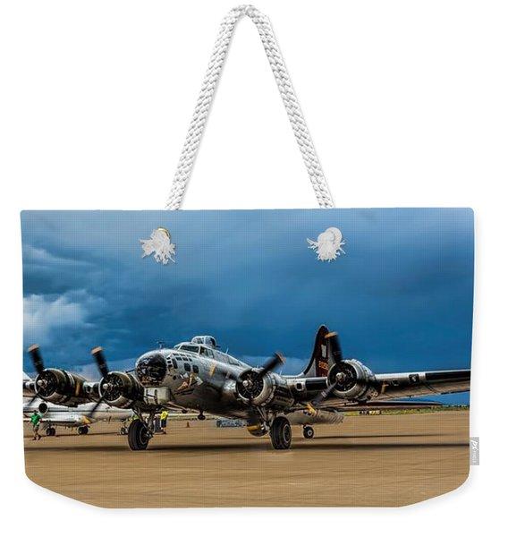 Aluminium Overcast Weekender Tote Bag