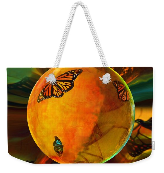 Ambered Butterfly Orb Weekender Tote Bag