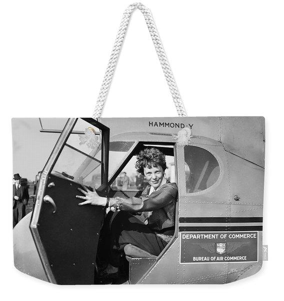 Amelia Earhart - 1936 Weekender Tote Bag