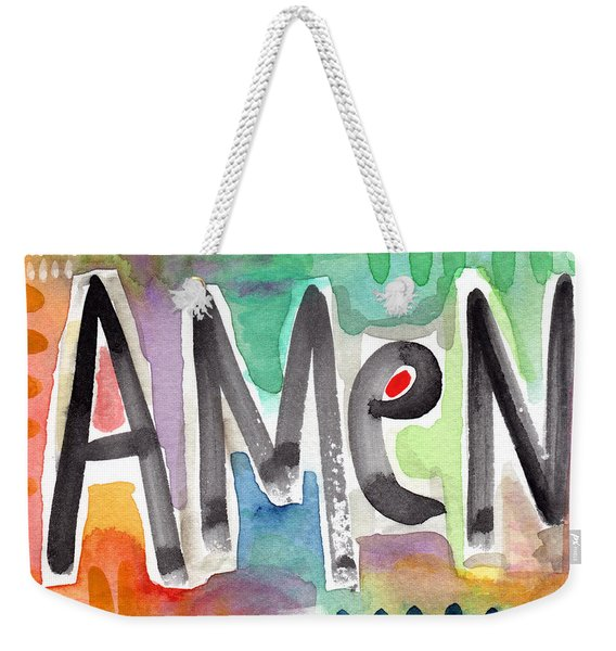 Amen Greeting Card Weekender Tote Bag