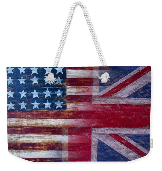 American British Flag Weekender Tote Bag