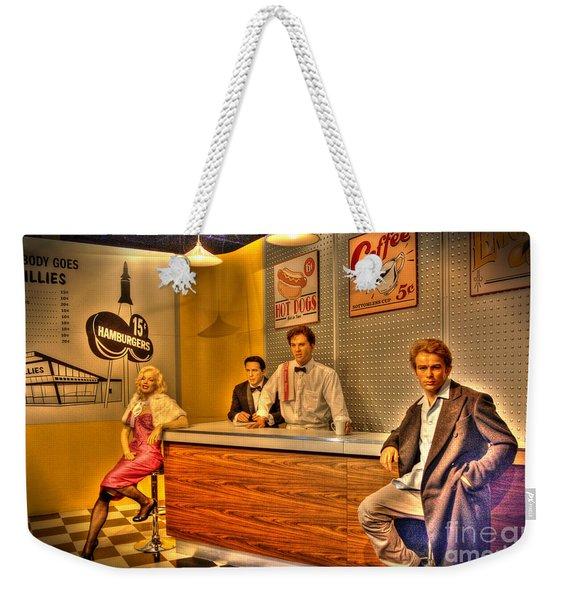 American Cinema Icons - 5 And Diner Weekender Tote Bag