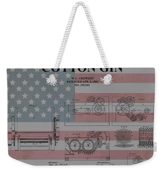 American Cotton Gin Patent Weekender Tote Bag