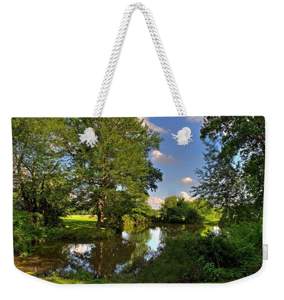 American Farm Pond Weekender Tote Bag