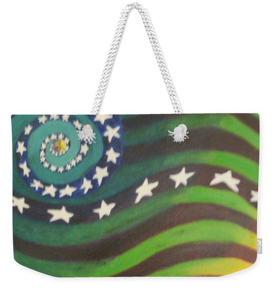 American Flag Reprise Weekender Tote Bag