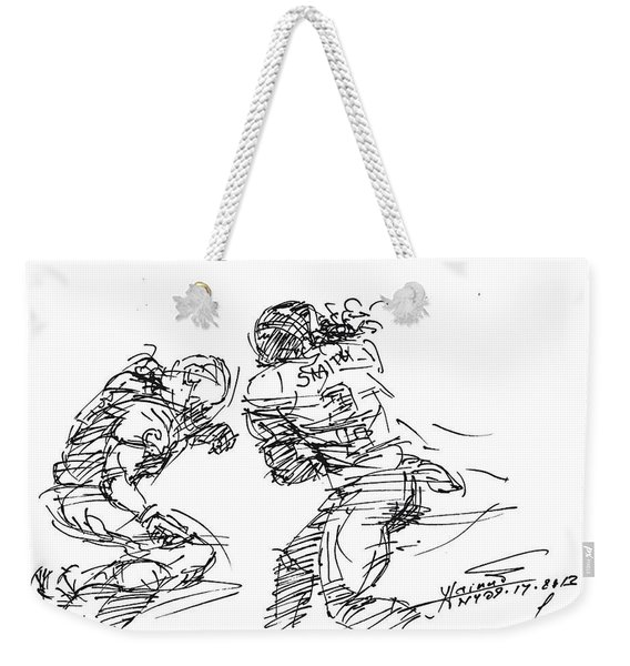 American Football 1 Weekender Tote Bag