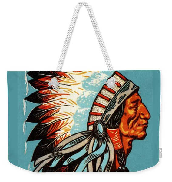 American Indian Chief Profile Weekender Tote Bag