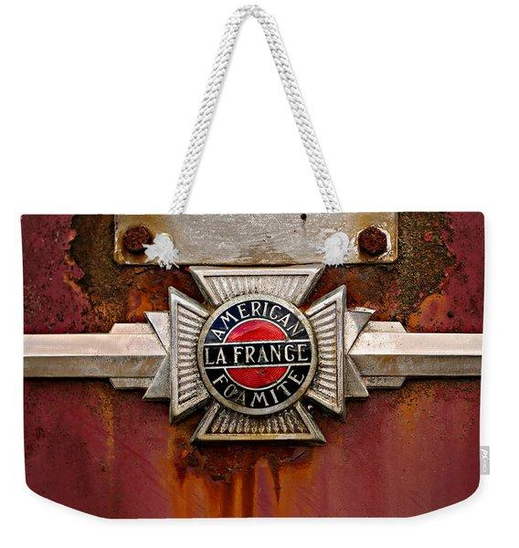 American Lafrance Foamite Badge Weekender Tote Bag