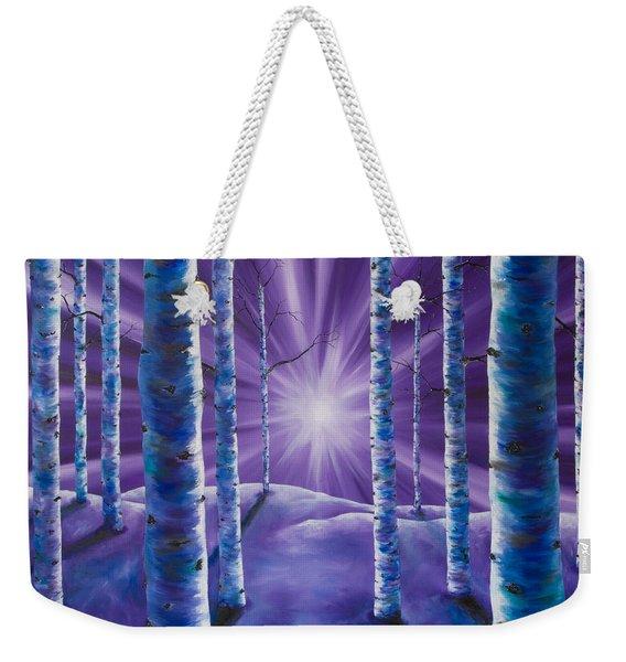 Amethyst Winter Weekender Tote Bag