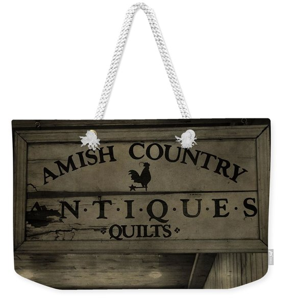 Amish Antique Quilts  Weekender Tote Bag